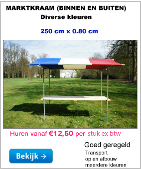 Marktkraam kopen 250 cm