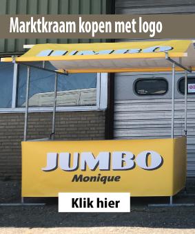 Marktkraam kopemn met logo