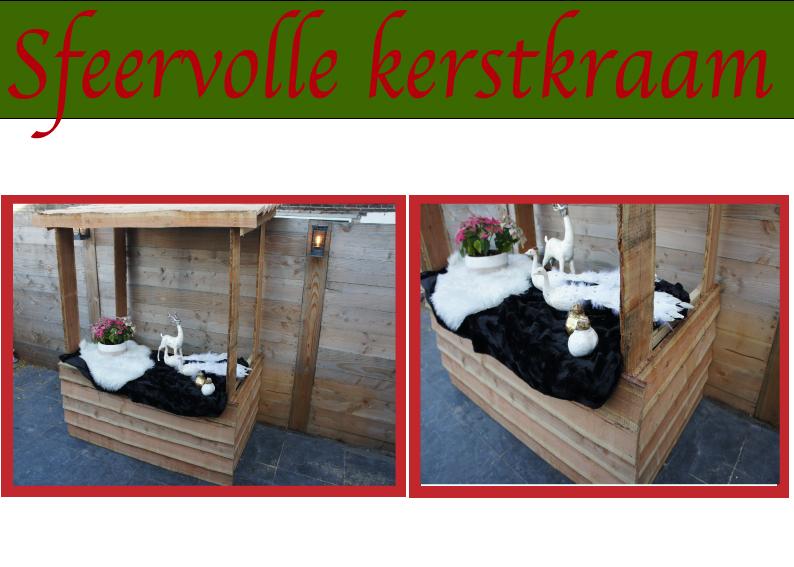 sfeervolle kerstkraam