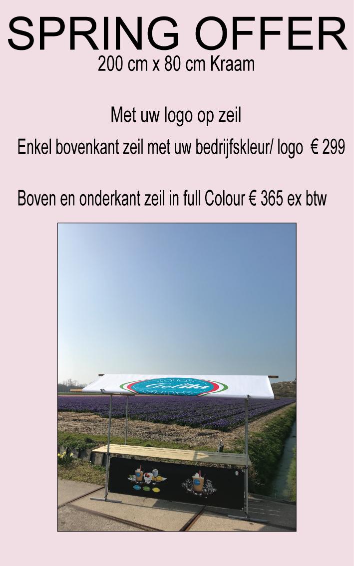 Wonderbaar Marktkramen kopen Naar eigen Idee met LogoMarktkramen huren verhuur BB-72